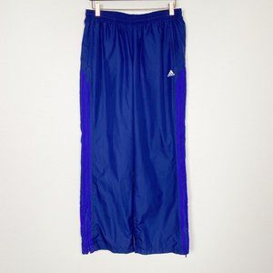 Adidas Navy Blue Athletic Track Pants Pull On Ankle Zippers